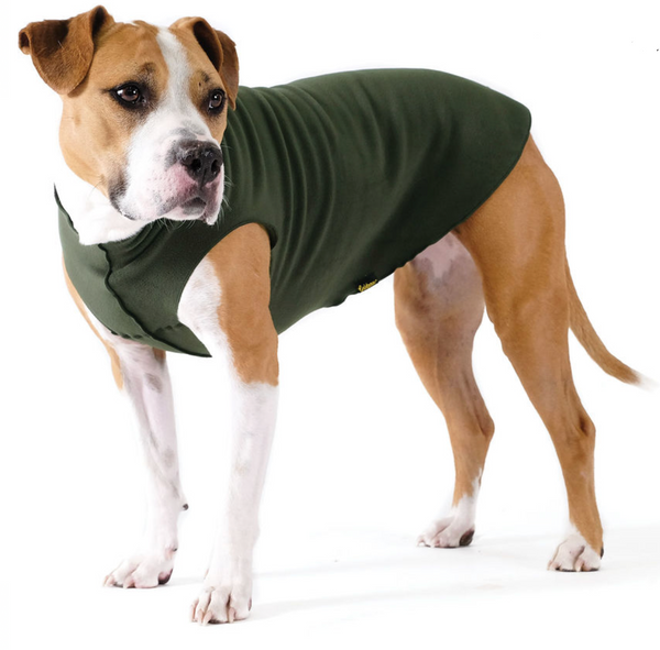 Gold Paw Stretch Fleece Dog Coat - Hunter Green