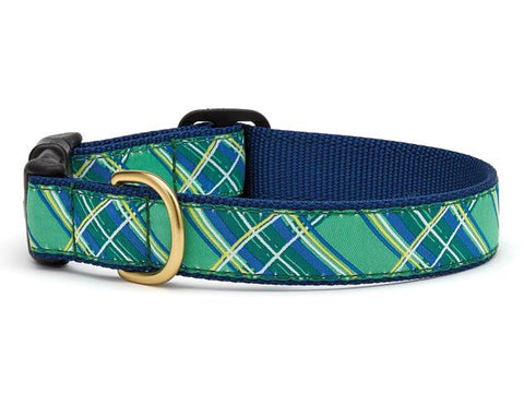 Up Country Kelly Plaid Dog Collar