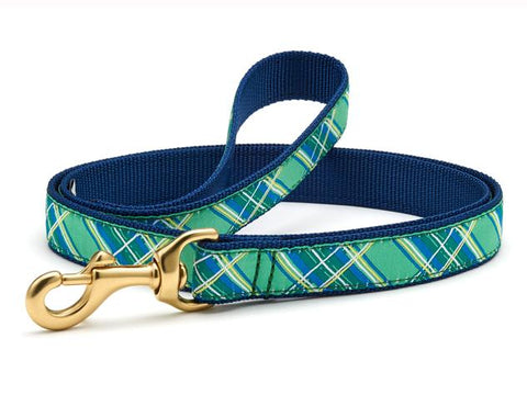 Up Country Kelly Plaid Dog Leash