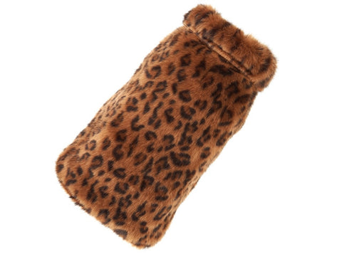 Up Country Leopard Fur Dog Coat