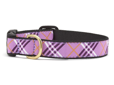 Up Country Lavender Lattice Dog Collar
