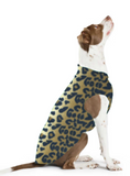 Gold Paw Stretch Fleece Dog Coat - Leopard