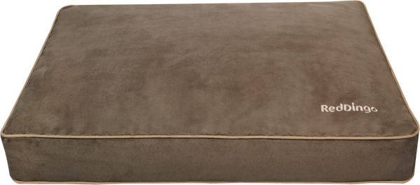 Red Dingo Microfiber Dog Mattresses - Taupe