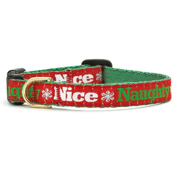 Up Country Naughty and Nice Cat Collar