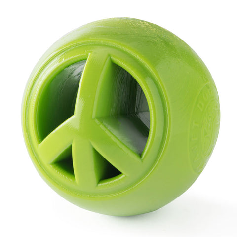 Planet Dog Orbee-Tuff Nook Dog Toy: Green Peace Ball
