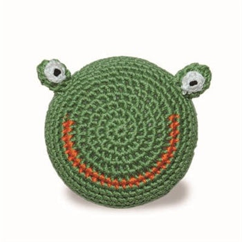 Frog Ball Crochet Dog Toy with Squeaker