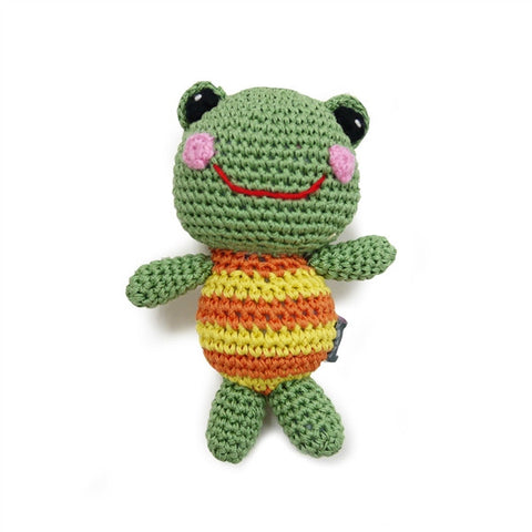 Froggy Doll Crochet Dog Toy with Squeaker