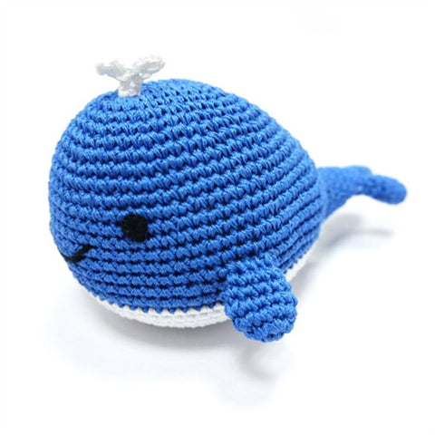 Whale Crochet Dog Toy with Squeaker