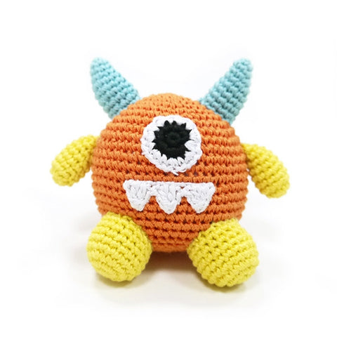 Monster Crochet Dog Toy with Squeaker