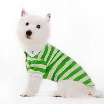 Classic Stripe Dog Polo Shirt - Green
