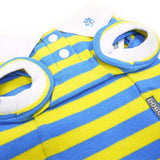 Classic Stripe Dog Polo Shirt - Yellow/Blue