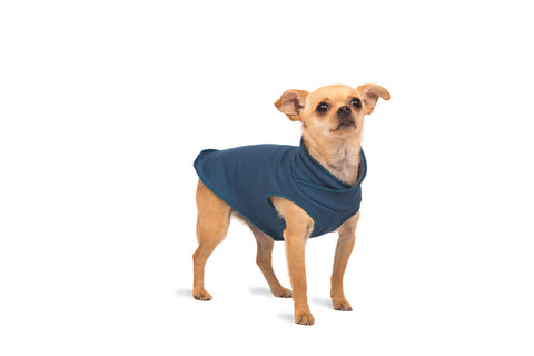 Santa Fe Bamboo Pullover Dog Sweater - Vintage Blue