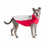 Portland Pullover Dog Sweater - Grey/Red
