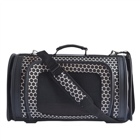 Petote Kelle Dog Carrier - Noir Dots