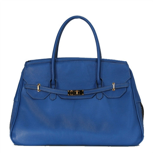 Petote Katie Bag Leather Dog Carrier - Cobalt Blue