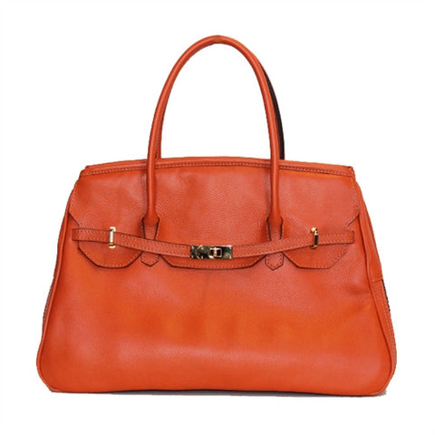 Petote Katie Bag Leather Dog Carrier - Orange