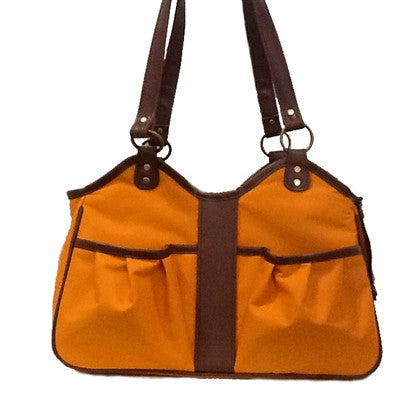 Petote Metro Classic Dog Carrier - Orange