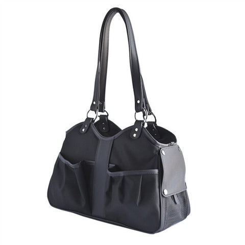 Petote Metro Classic Dog Carrier - Black Sable