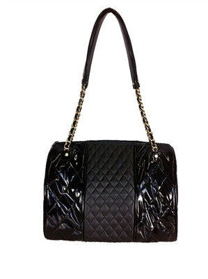 Petote Mixed Quilted Mia Bag - Black