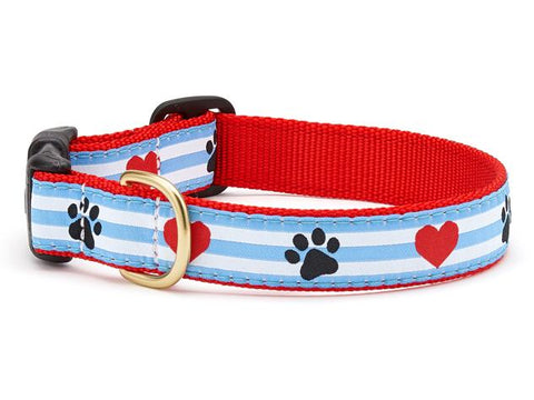 Up Country Pawprint Stripe Dog Collar