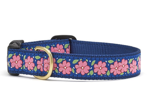 Up Country Pink Garden Dog Collar