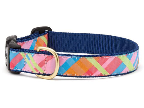 Up Country Pink Madras Dog Collar