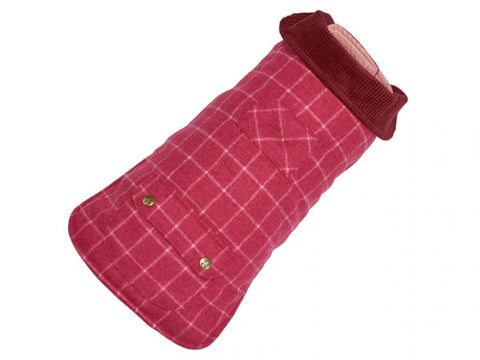 Up Country Pink Tweed Dog Coat