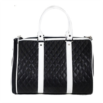 Petote JL Duffel Tote - Black & White Quilted