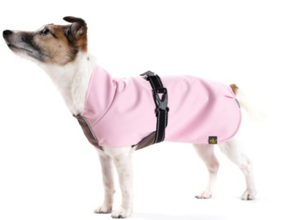 Rain Paw Waterproof All-Season Dog Coat - Petal Pink