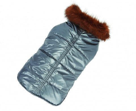 Up Country Aspen Puffer Dog Coat - Silver