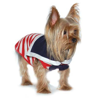 Sailor Boy Dog Tank - Red