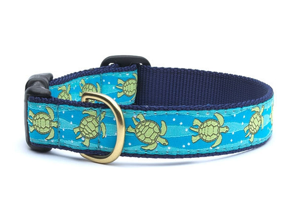 Up Country Sea Turtle Dog Collar