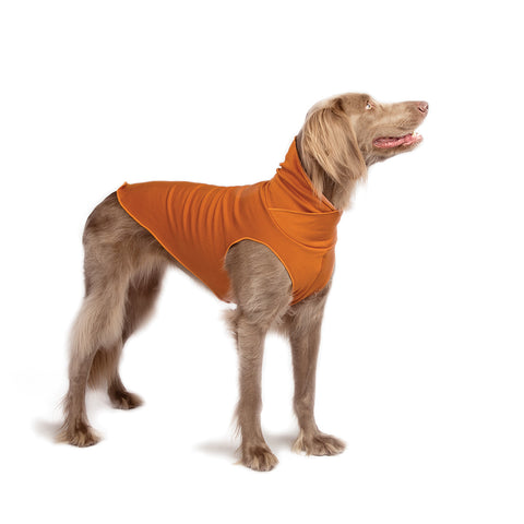 Santa Fe Natural Bamboo Pullover Dog Sweater - Butternut Orange