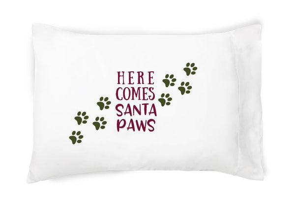 Here Comes Santa Paws 100% Cotton Pillowcase