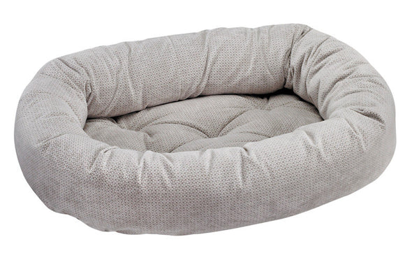 Bowsers Silver Treats Microvelvet Donut Dog Bed
