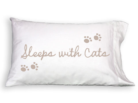 Sleeps with Cats Single Pillowcase