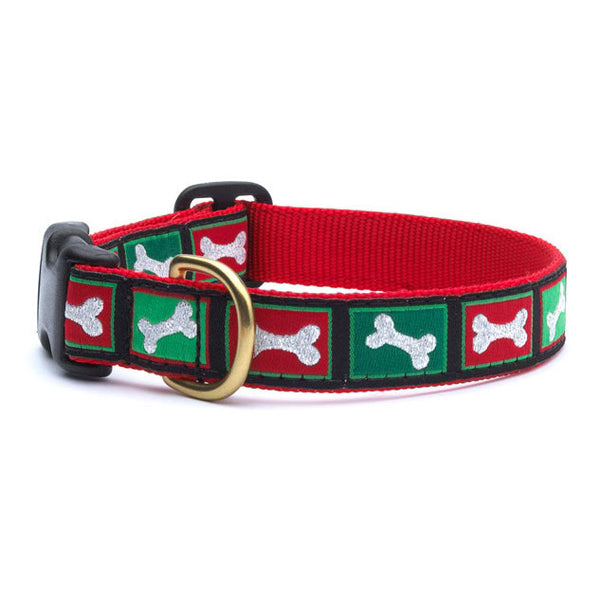 Up Country Christmas Bones Dog Collar