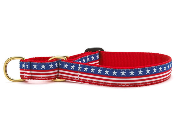Up Country Stars & Stripes Martingale Dog Collar