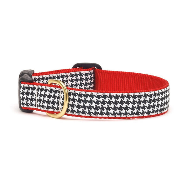 Up Country Black Houndstooth Dog Collar