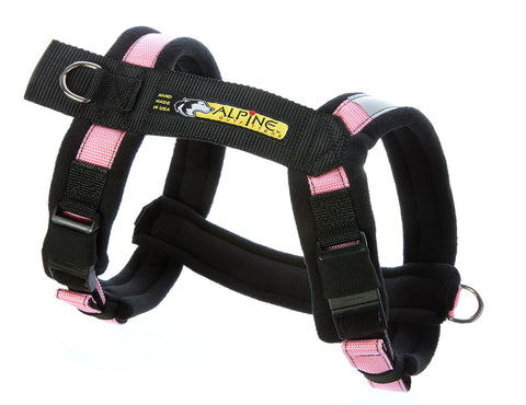 Urban Trail Adjustable Padded Dog Harness - Pink