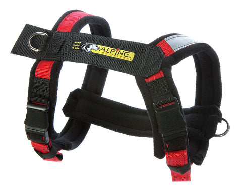 Red Urban Trail Adjustable Padded Dog Harness