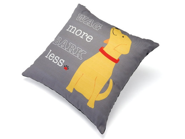 Wag More Bark Less Accent Pillow