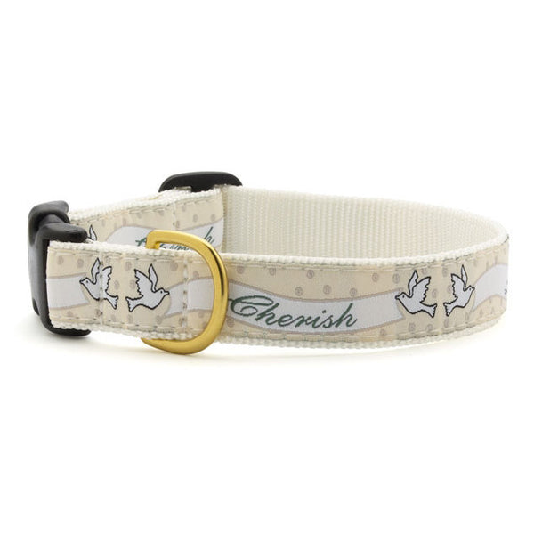 Up Country Love & Cherish Wedding Dog Collar