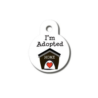 I'm Adopted Dog ID Tag - Small