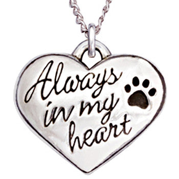 Pet Memorial Necklace - Always In My Heart