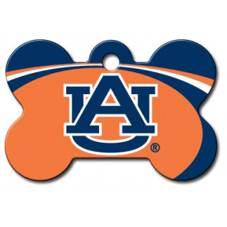 Auburn Tigers NCAA Custom Engraved Dog ID Tag - Bone