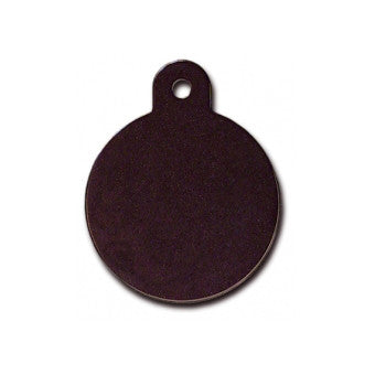 Black Circle Custom Engraved Dog ID Tag - (Double Side Engraving)