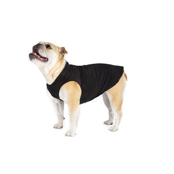 Gold Paw Stretch Fleece Dog Coat - Black