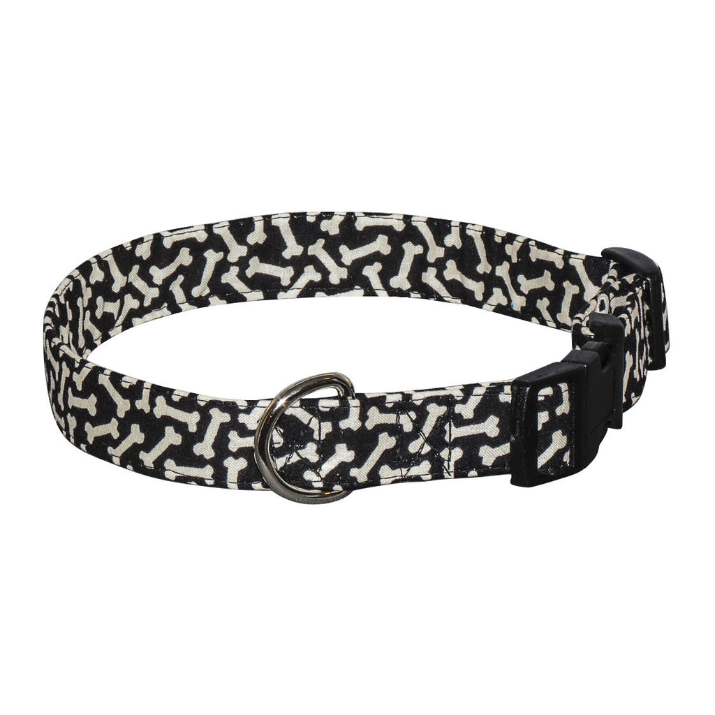 Elmou0027s Closet Black Bones Dog Collar
