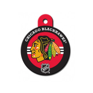 Chicago Blackhawks NHL Custom Engraved Dog ID Tag - Round Hockey Puck